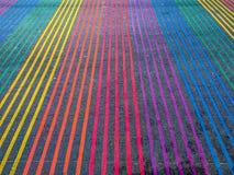 Rainbow Intersection, Castro District, California Stock Photography