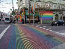 Castro District Rainbow Flags imagens de stock royalty free