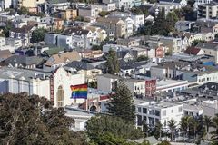 Castro District in San Francisco, California. Royalty Free Stock Images