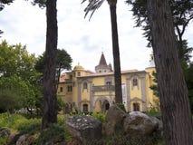 Castro Guimaraes museum in Cascais Portugal. The Castro Guimaraes museum is housed the most architectural interesting building of Cascais. The exterior of the Royalty Free Stock Photo