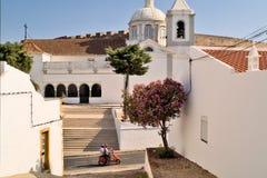 CASTRO MARIM, PORTUGAL – june 24,2003 : Matriz church stock photography
