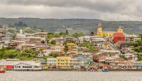 CASTRO-STADT in CHILE lizenzfreies stockfoto
