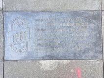 Castro Street Timeline Marker, 1981 Immagini Stock