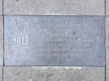 Castro Street Timeline Marker, 2013 imagem de stock royalty free