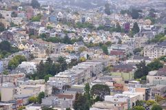 Castro suburban area, San Francisco CA Royalty Free Stock Image