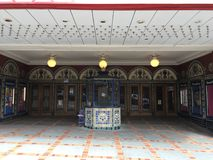 The Castro Theater outside entrance and ticket booth San Francisco`s most famous movie house, 5. stock images