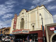 The Castro Theater, San Francisco`s most famous movie house, 2. By the mid 1950`s, San Francisco boasted of having over 70 movie theaters. But with most things Stock Photography