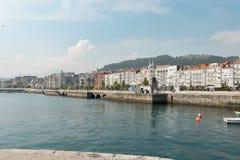 Castro Urdiales, łowi miasteczko przy cantabrian wybrzeżem Fotografia Royalty Free