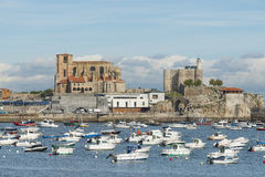 Castro Urdiales, Cantabria, Spain-16 October, 2015. Stock Images