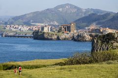 Castro Urdiales, Espagne photos stock