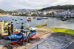 Castro Urdiales est une ville dans le nord de l'Espagne Image libre de droits