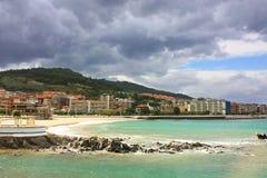 Castro urdiales plaża zdjęcie royalty free
