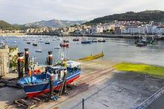 Castro Urdiales port Zdjęcia Royalty Free