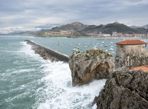 Castro Urdiales port Royalty Free Stock Photos