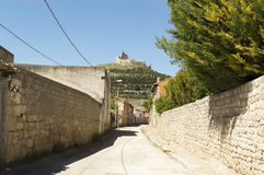 Castrojeriz village street, place of Interest on the Way of St. James, Spain Stock Image