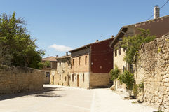 Castrojeriz village street, place of Interest on the Way of St. James, Spain Royalty Free Stock Photography