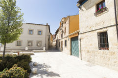 Castrojeriz village street, place of Interest on the Way of St. James, Spain Royalty Free Stock Images