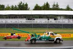 Castrol f1600 towed at Montreal Grand prix Stock Image
