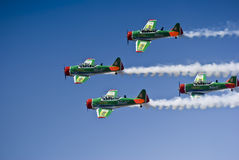 Castrol Flying Lions Harvard Aerobatic Team stock photography