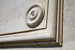 Castronno    varese abstract   wall  curch circle Stock Photo