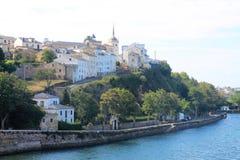 Castropol, Asturias ( Spain ). Castropol, in the Estuary of Eo river, Asturias (Spain&#x29 Royalty Free Stock Image