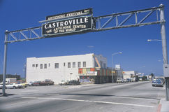 Castroville. A sign that reads Artichoke Festival Royalty Free Stock Photos