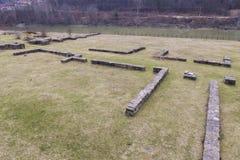 Castrum romano di Arutela Immagine Stock