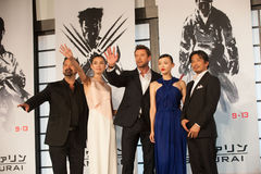 The casts of The Wolverine. August 28, 2013 : Tokyo, Japan – The casts of The Wolverine appear at the Japan Premiere for The Wolverine by James Mangold in the stock photos