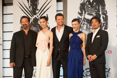 The casts of The Wolverine. August 28, 2013 : Tokyo, Japan – The casts of The Wolverine appear at the Japan Premiere for The Wolverine by James Mangold in the Royalty Free Stock Photos