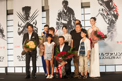 The casts of The Wolverine. August 28, 2013 : Tokyo, Japan – The casts of The Wolverine appear at the Japan Premiere for The Wolverine by James Mangold in the royalty free stock images