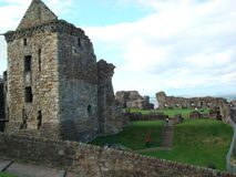Castle in St Andrews. Historical old Castle in St Andrews, UK stock photography
