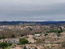 Casttle Каркассона, Francia стоковое изображение rf