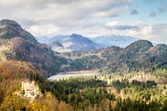 Casttle de Hohenschwangau, Allemagne photo stock