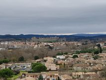 Casttle van Carcassonne, Francia royalty-vrije stock afbeelding