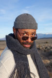 Casual African American man. Enjoying an afternoon outdoors Royalty Free Stock Image