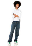 Casual afro man Stock Images