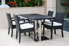 Casual al fresco dining area Stock Photography