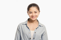Casual Asian girl smiling portrait. Beautiful  woman smiling. Royalty Free Stock Photo