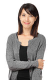 Casual asian woman isolated on white background Stock Photography