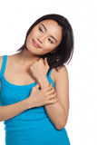 Casual attractive young Asian woman Royalty Free Stock Photography