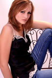 Casual beautiful woman royalty free stock image