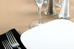 Casual Bistro Table Place Setting Stock Photos