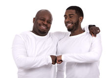 Casual black father and son Royalty Free Stock Photos