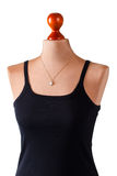 Casual black top and pendant. Stock Image