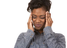 Woman and headache Stock Photos