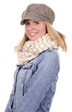 Casual blond woman Royalty Free Stock Images