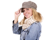 Casual blond woman Royalty Free Stock Photo