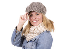 Casual blond woman Stock Photo