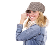 Casual blond woman Stock Image