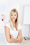 Casual blond woman Stock Photography